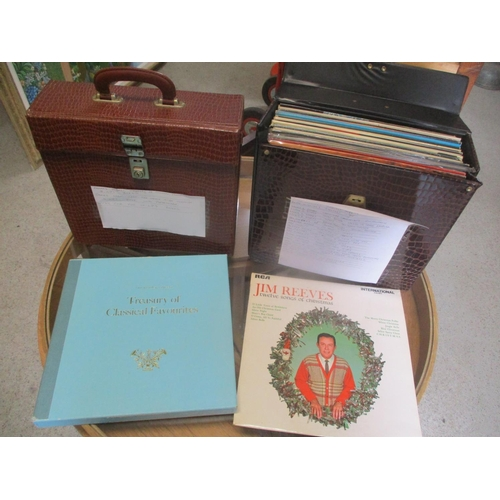 22 - Two cases containing mixed LP records to include Jim Reeves, James Last and Barbara Mason Location: ...