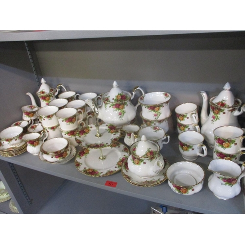 117 - A Royal Albert Old Country Roses coffee and teaset Location: 4:4...