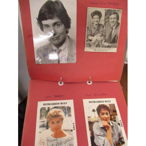 23 - An album containing photographs and television photographic prints of well known characters, actors ...
