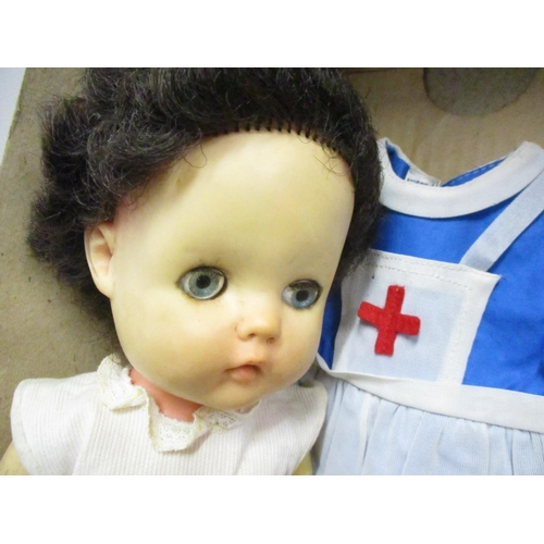 26 - A Pedigree Talking Walking doll and original box along with another doll Location: 1:2...