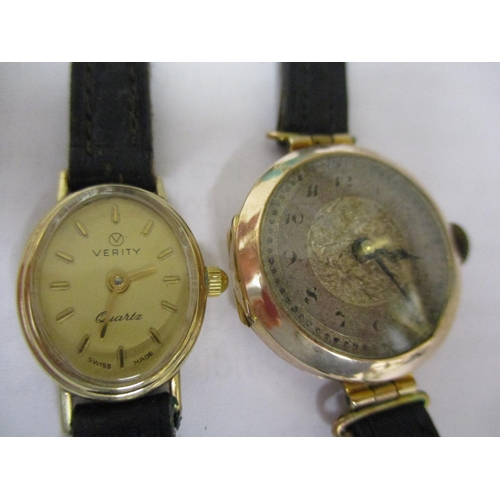8 - Two watches to include an early 20th century 9ct gold wristwatch Location: CAB...