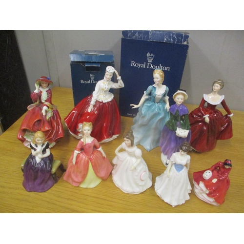 127 - Ten mixed Royal Doulton figures to include Fragrance, Yvonne and others Location: 1:1...