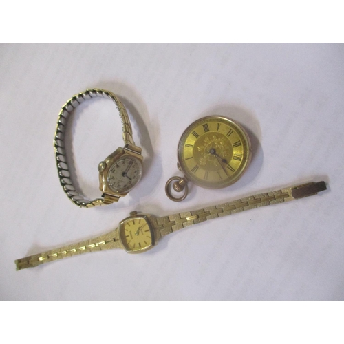 129 - Three watches to include a 9ct gold ladies watch Location: CAB...
