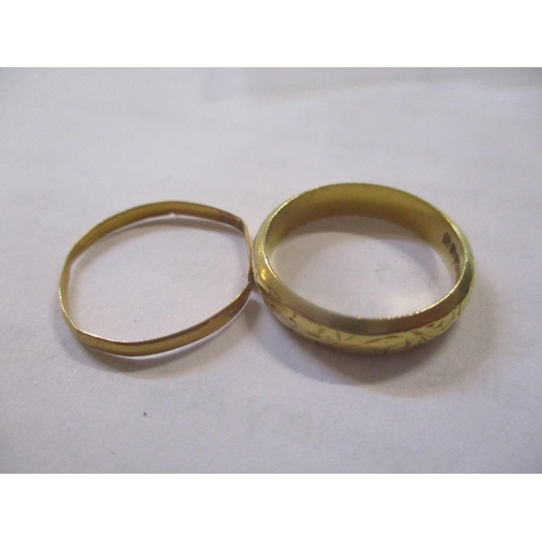 130 - Two 22ct wedding bands Location: CAB...