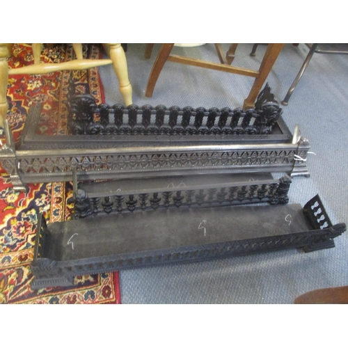 33 - Five small mixed iron fire fenders Location: LWM C...