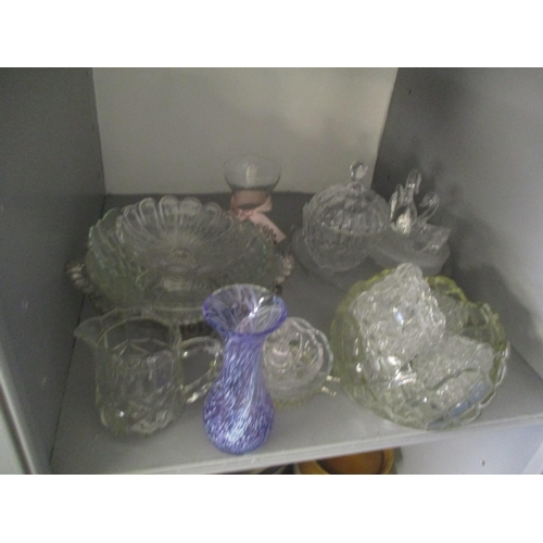37 - Mixed glassware to include a cut glass Waterford centre bowl Location: LAM...