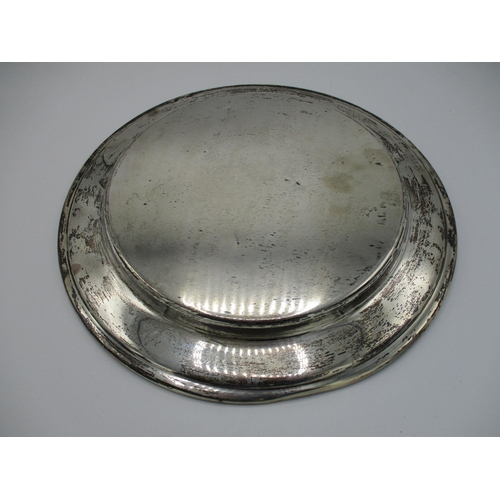 4 - A sterling silver salver stamped GWD, presented by John B Pulido at Aronimink Golf Club December 13t...