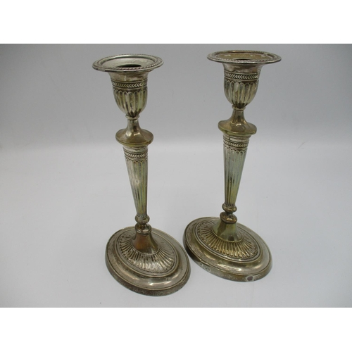 7 - A pair of George V silver candlesticks, Sheffield 1912 by William Charles Fordham and Albert Buckley...