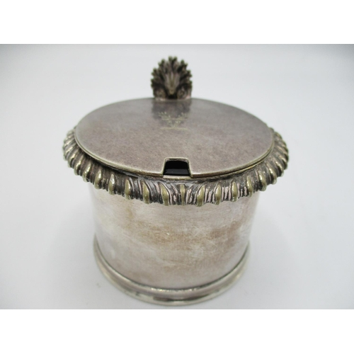 8 - This lot has been withdrawn  Victorian silver mustard pot, London 1876 by Edward, Edward JNR, John a...