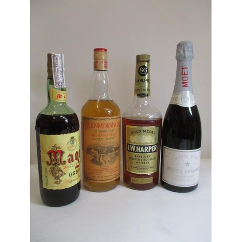 21 - One bottle of Glenmorangie Highland Malt, 1lt and one bottle of Moet & Chandon White Star Champagne ...