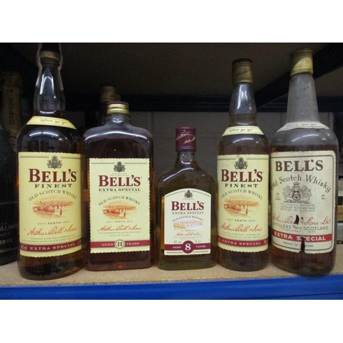 26 - Five mixed bottles of Bells Scotch Whisky...