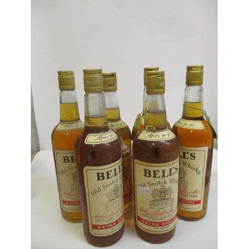 30 - Six bottles of Bells Old Scotch Whisky, 26 2/3 fl oz...
