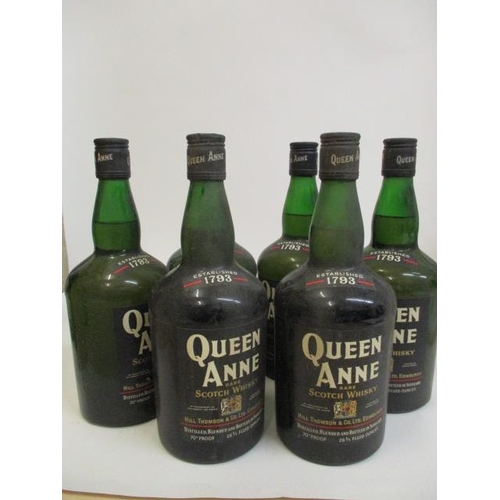 31 - Six bottles of Queen Anne rare Scotch Whisky 26 2/3 fl oz...