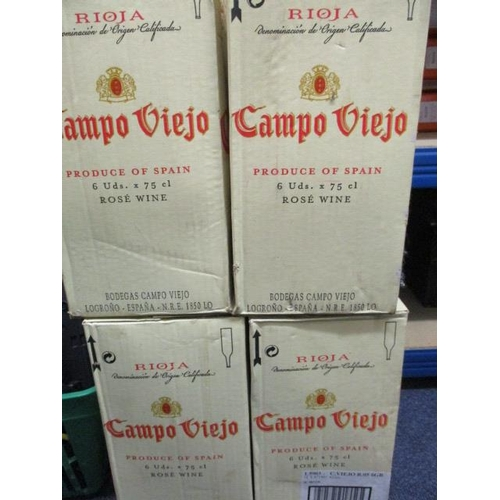 36 - This lots has been withdrawn Four cases of Campo Viejo Tempranillo Rose, 24 bottles, 75cl...
