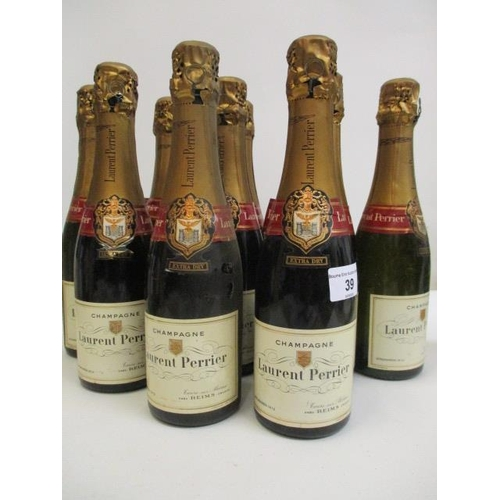 39 - Ten half bottles of Laurent Pienier Champagne...