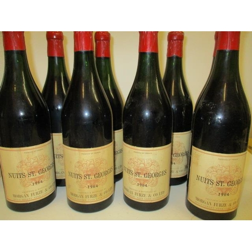 43 - Eight bottles of Nuits St Georges 1964...