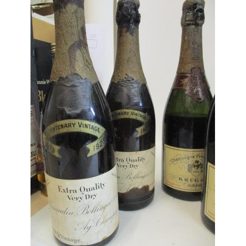48 - Eight bottles of Krug & Co 1929 extra sec Champagne A/F and two bottles of Boullenger & Co 1929 vint...