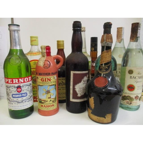 55 - Eleven mixed bottles of spirit to include Gin, Pernod, Bacardi, Dom Liqueur...