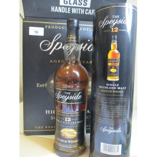 16 - Six bottles of The Speyside aged 12 years, single malt...