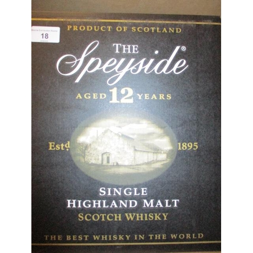 18 - Six bottles of The Speyside aged 12 years, single malt...