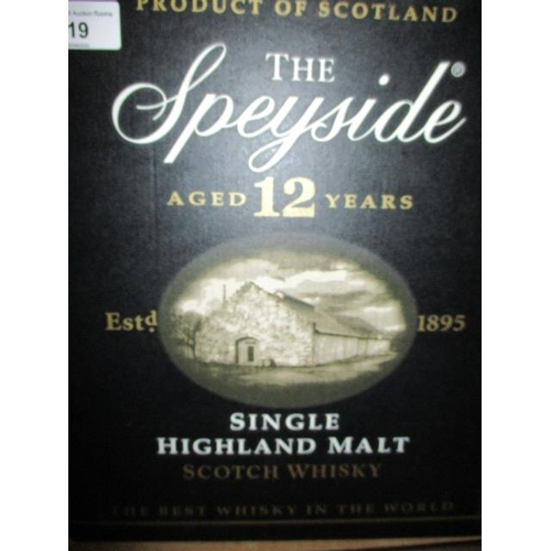 19 - Six bottles of The Speyside aged 12 years, single malt...