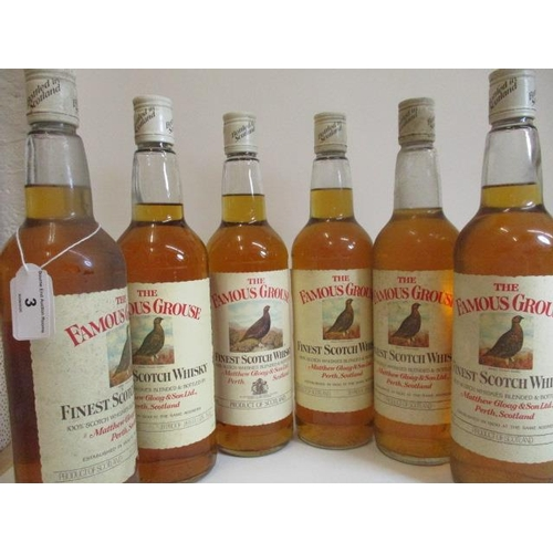 3 - Six 75cl bottles of The Famous Grouse Whisky...
