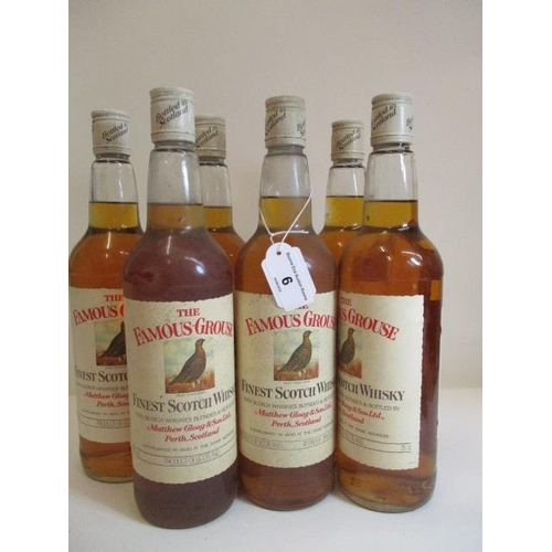 6 - Six 26 2/3 fl oz bottles of The Famous Grouse Whisky...