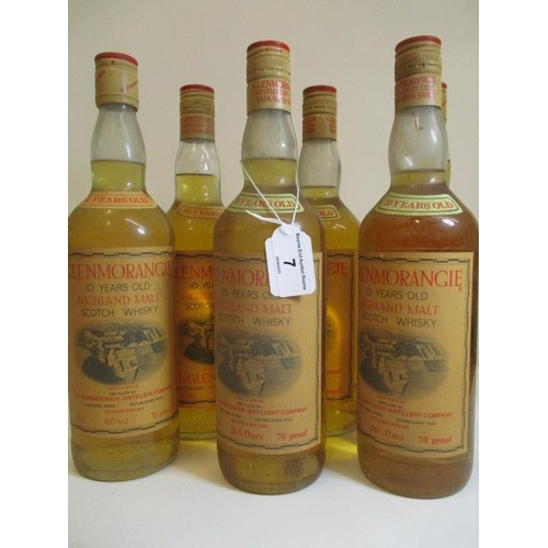 7 - Six 26 2/3 fl oz bottles of 10 year old Glenmorangie Highland Malt Whisky...
