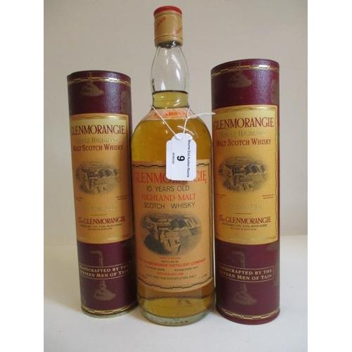 9 - Two 35cl bottles of Glenmorangie single Highland Malt Scotch Whisky and 1litre Glenmorangie single H...
