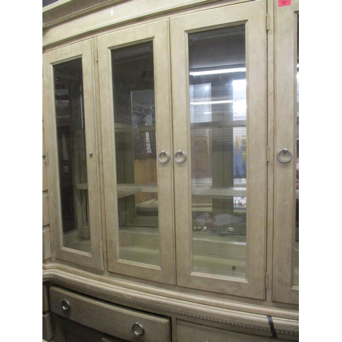 48 - A contemporary light ash finished display cabinet, 84