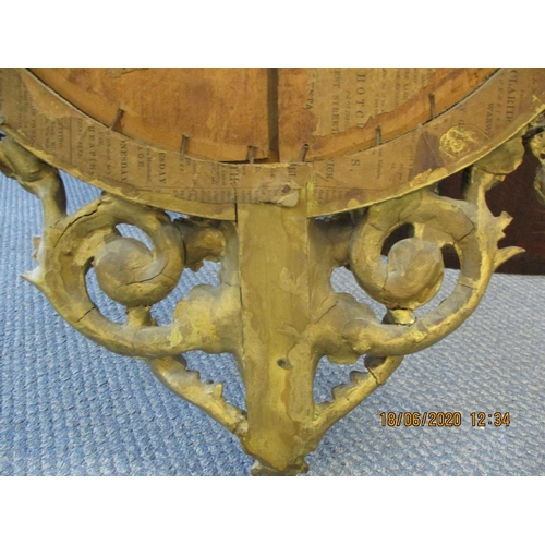 11 - A late 19th century French gilt Girondole wall mirror with candle sconces having a horn and floral d...