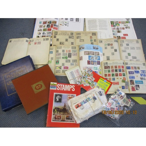 17 - 12 Commonwealth and World stamp albums and 2 stamp books, 84 First Day Covers, a 1985 Queen Mother c...