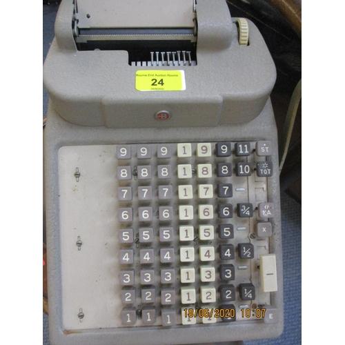 24 - A vintage Burroughs adding machine Location: RAF...