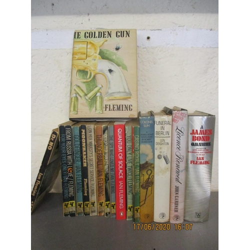 27 - A quantity of mid 20th century books to include James Bond paperback and hardback books Location: BW...
