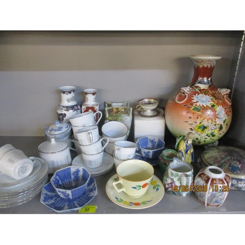 32 - A quantity of mixed Oriental ceramics to include a Noritake Isabella part tea and coffee service Loc...