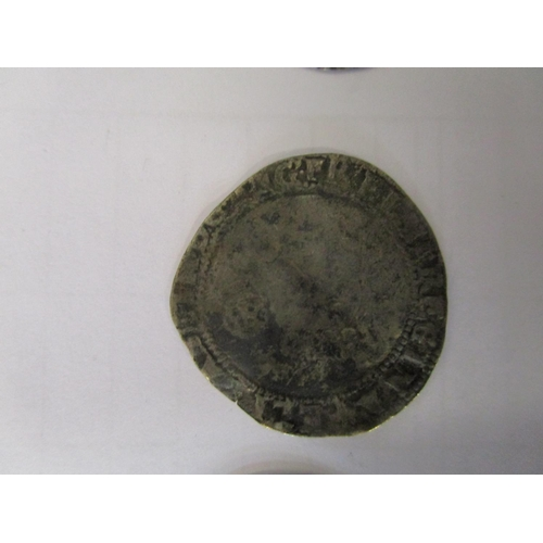 14 - A group of four silver hammered coins to include an Elizabeth I long cross coin dated 1571 Location:...