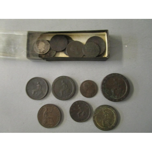 15 - A group of Georgian copper 1p, 2p and 1/2d coins to include a 2-penny Cartwheel coin Location: COIN ...