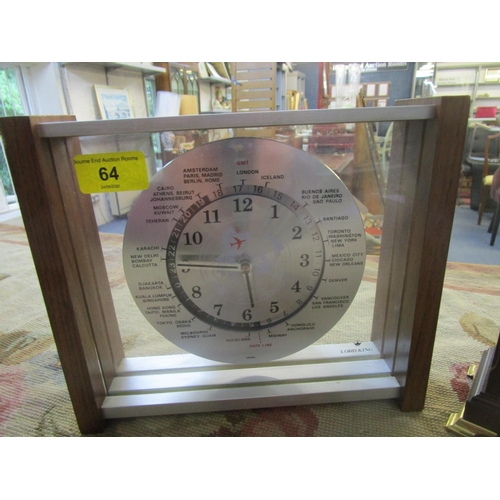 64 - A Comitti mahogany cased mantle clock, and a Lord King Japanese mantle clock circa 1980 Location: 9:...