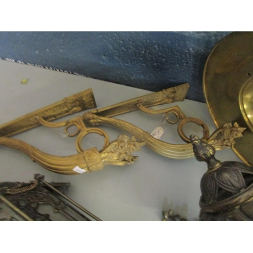 83 - A selection of lighting to include two gilt wall light brackets Location: BWL...