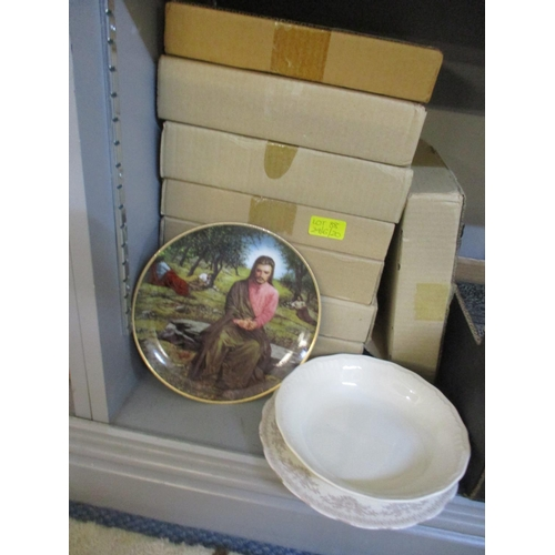 88 - Poole collectors plates and others, mixed domestic glass and china to include Indian Tree pattern Lo...