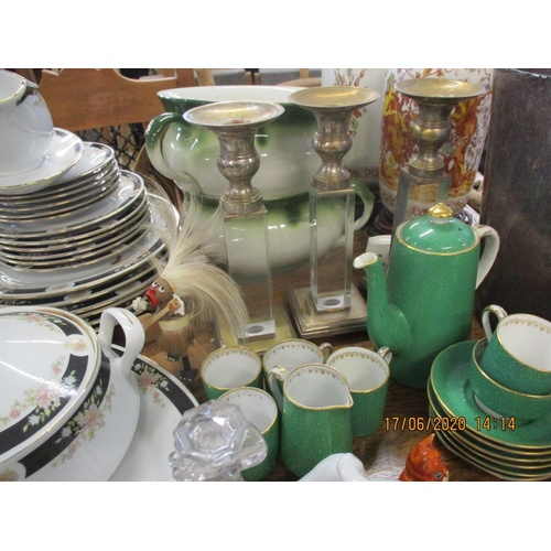 20 - A mixed lot of late 20th century ceramics, an early 20th century coffee set, mixed glass and other i...