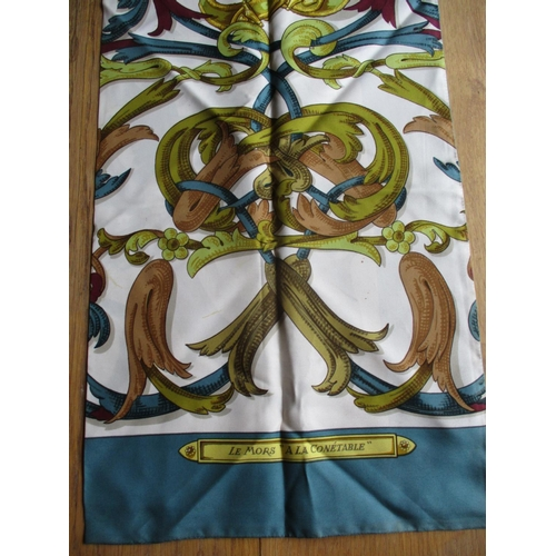 7 - Hermes -A 1980s Le Mors 'A La Conetable' silk scarf designed by Henri D'Origny, possibly later adapt...
