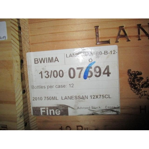 4 - Twelve cased bottles of Chateau Lanessan Haut-Medoc 2010 Location 8...