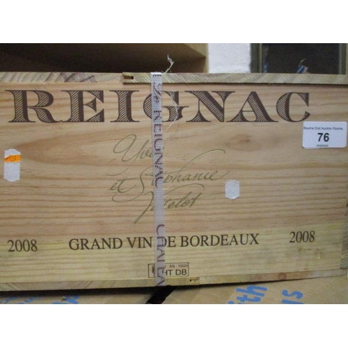 6 - Twelve cased bottles of Reignac 2008 Grand Vin De Bordeaux Location 9...