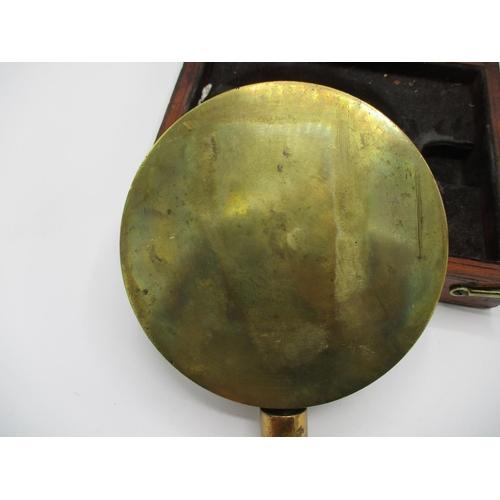 291 - A Victorian John Dewrance & Co. London brass cased duplex test gauge for checking ships boilers, 7