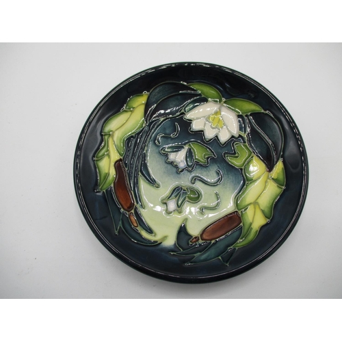 308 - Four Moorcroft pin dishes, Pomegranate and Bird, 4 3/4