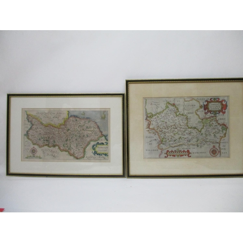 320 - Two early 17th century William Hole after Christopher Saxton maps, one of North Riding of Yorkshire ...