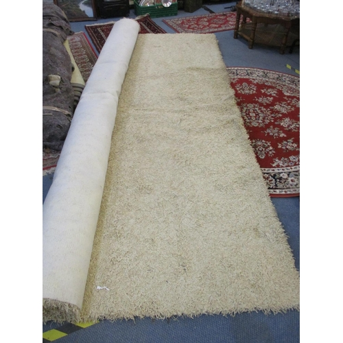 62 - A 1970s inspired cream carpet, A/F and one other Location: LWM (Condition:some stains-please ask for...