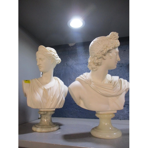 63 - A Glannilli - Two reproduction Parisian busts on marble bases Location: RWB...