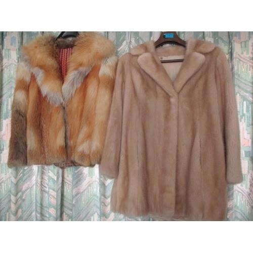 1 - A blonde mink hip length coat 38